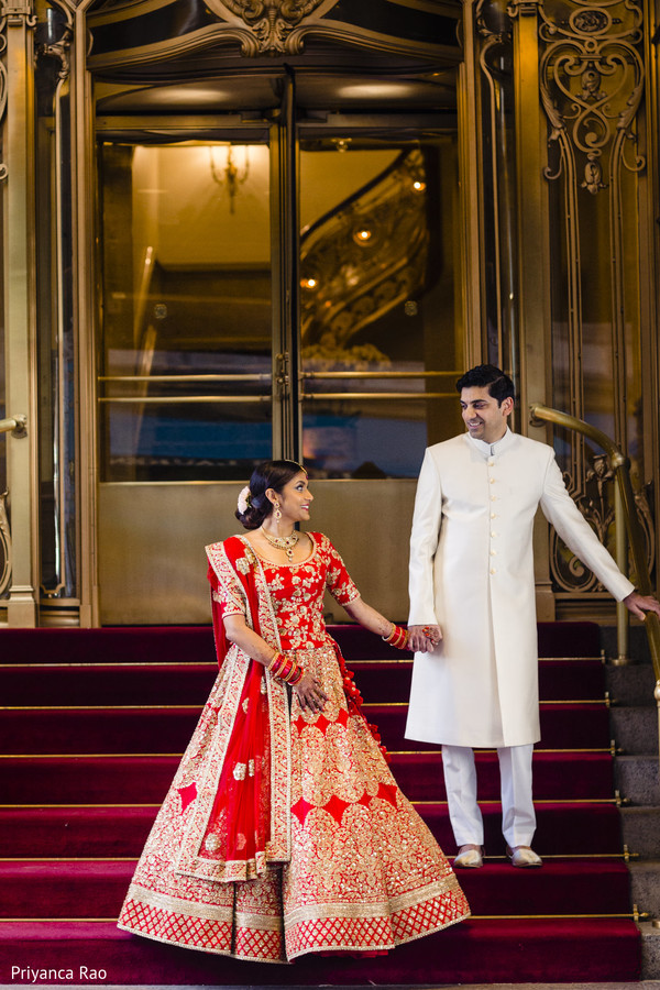 Stunning portrait of Indian bride and groom