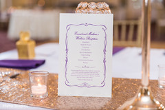 Invitation details for the Indian wedding