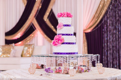 Detail of the tasty Indian wedding cake