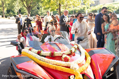 Indian groom during the Baraat