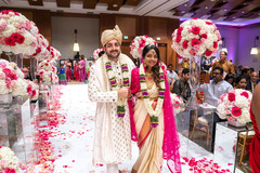 Dazzling Indian newlyweds at the reception