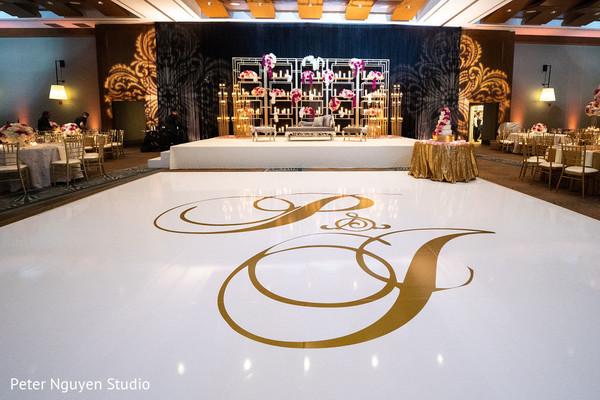 Indian wedding dance floor details