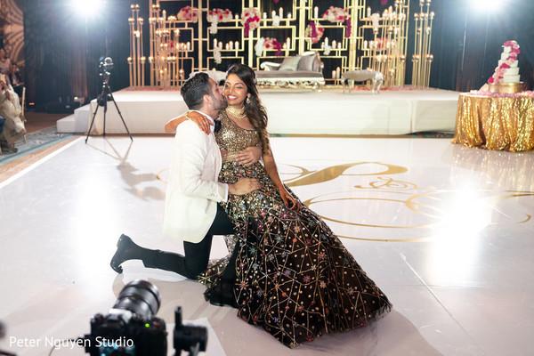 Ravishing newlyweds enjoying their moments together