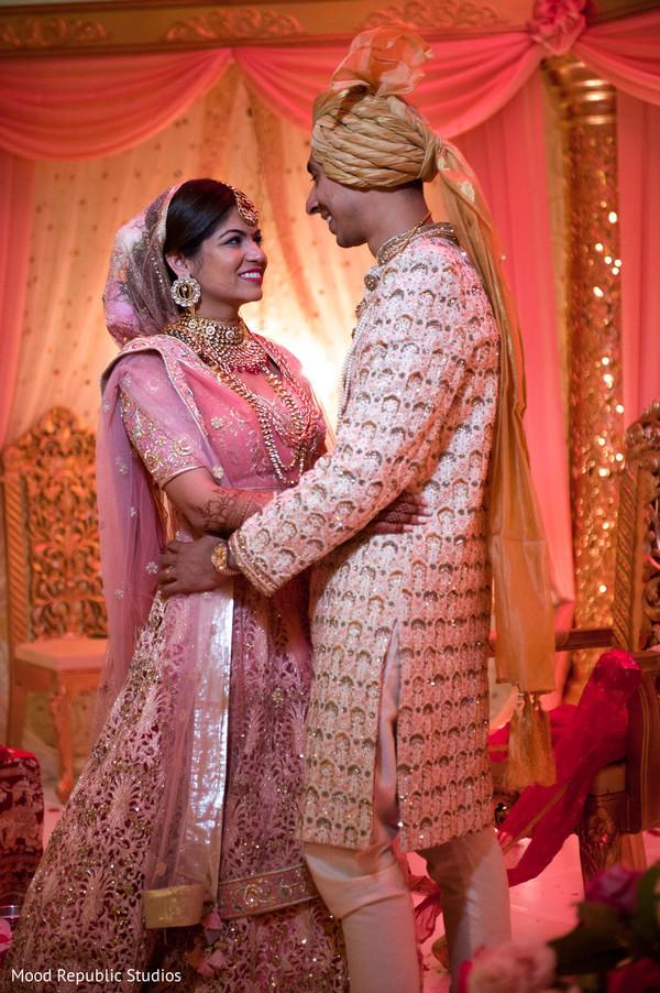 Maharani and Raja wearing the traditional wedding attire