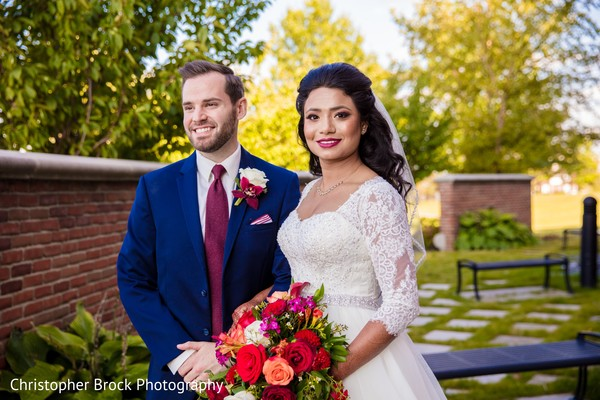 indian christian wedding fashion,indian bride and groom