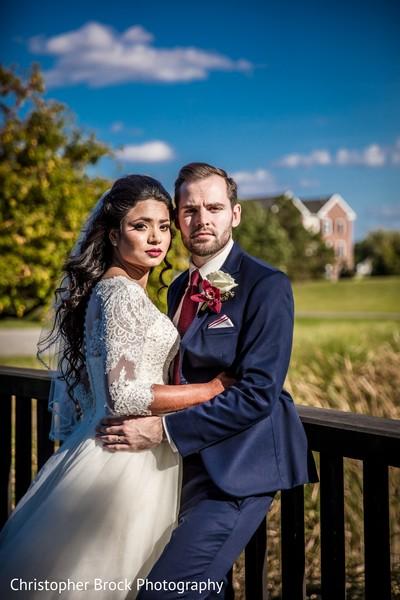 Indian love birds wedding portrait.