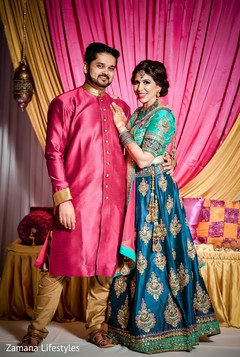 Dazzling indian bride and groom photography.
