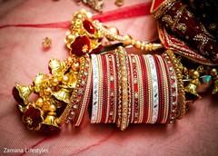 Indian wedding bridal ceremony Kalire and bangles.