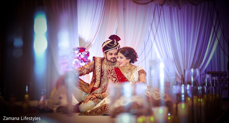 Gorgeous Indian bride and groom capture.