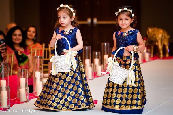 Incredibly lovely Indian flower girls capture.