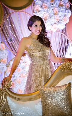 Glamorous Indian bride posing.