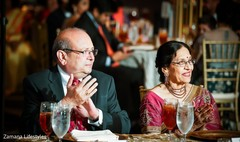 Indian wedding reception guests capture.