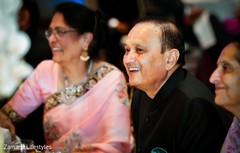 Vibrant Indian wedding reception photo.
