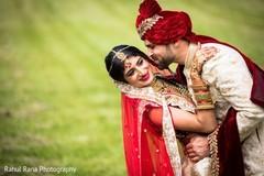 Raja kissing the maharani outdoors