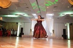 Special guest performing a choreography at the reception