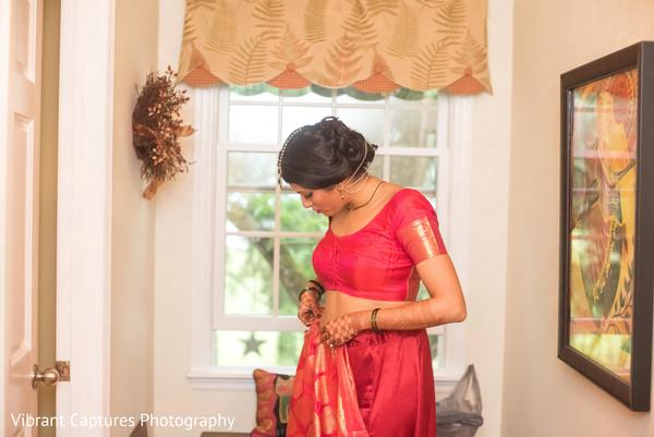 Stunning Indian bridal wedding lehenga.