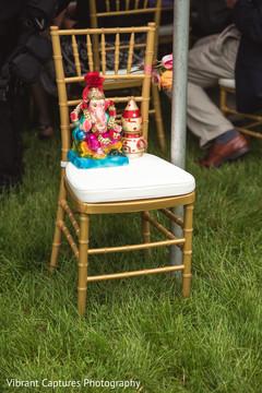 Wonderful Indian wedding ceremony Ganesha decor.