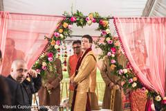 Beautiful indian wedding ceremony mandap decor.