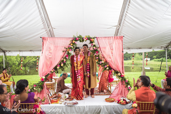 Indian bride and groom just married capture.