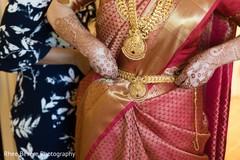 Maharani getting ready for wedding ceremony.