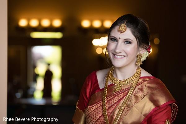 Glamorous Indian bride portrait.