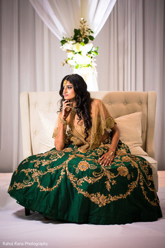 Amazing Indian bride during the photo shoot