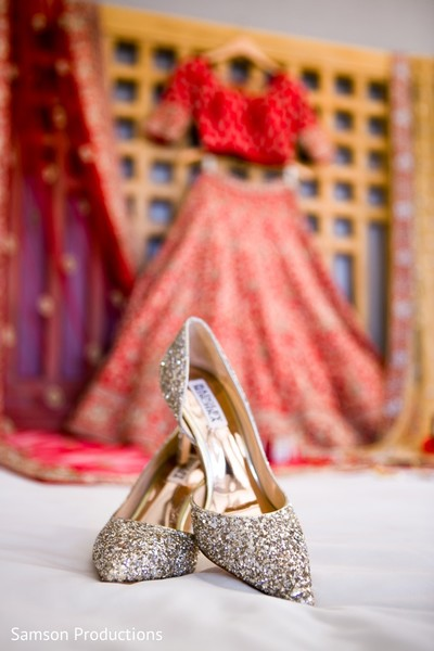Detail of shoes used by the Indian bride