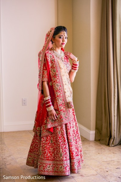 Dazzling Indian bride getting ready
