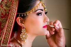 Beautiful Indian bride prior to the ceremony