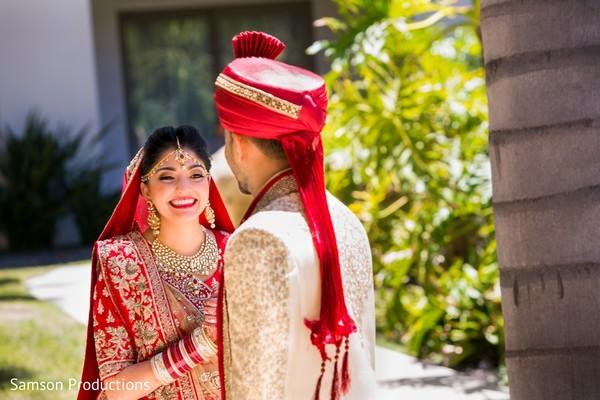Maharani smiling during the photo shoot
