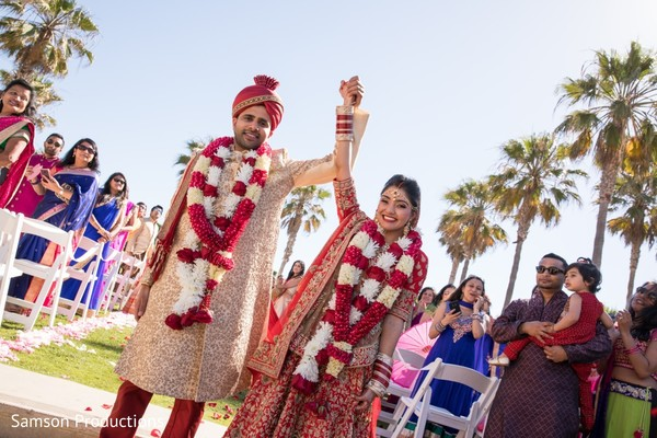 Joyful maharani and raja after the ceremony