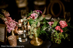 Wonderful Indian wedding table flowers decor.