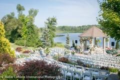 Dreamy scene of the Indian wedding ceremony venue