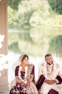 See this lovely Indian lovebirds at their wedding