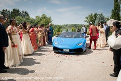 Detail of the elegant car picking the newlyweds up