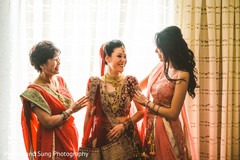 Indian bride, family and special guest getting ready