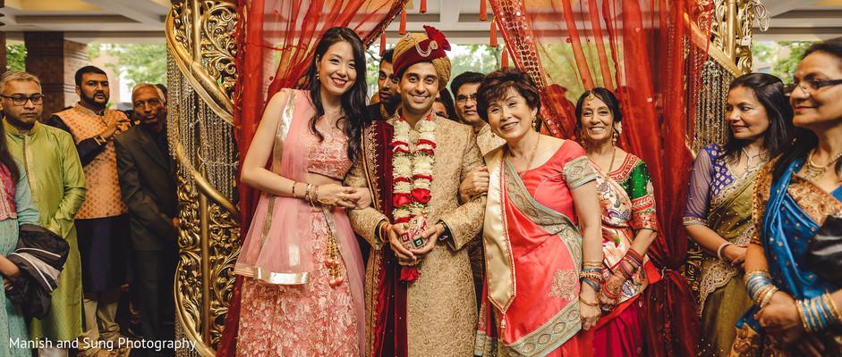 Maharani's family posing with the Raja