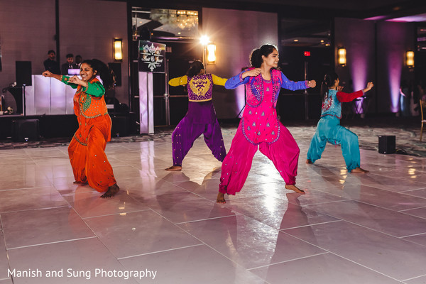 Dancers performing at the reception ceremony