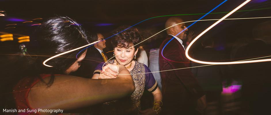 Maharani's mother dancing at the reception
