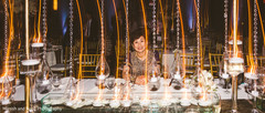 Maharani's mother posing with the table design