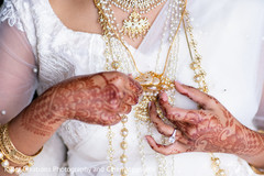 Bridal jewelry and mehndi design details