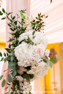 Floral design arrangement ready for the Indian wedding