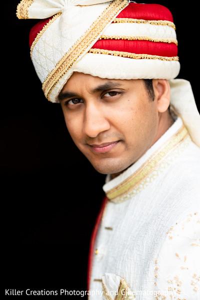 Elegant portrait of Indian groom