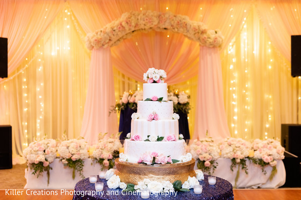 indian wedding,cake,venue,decor