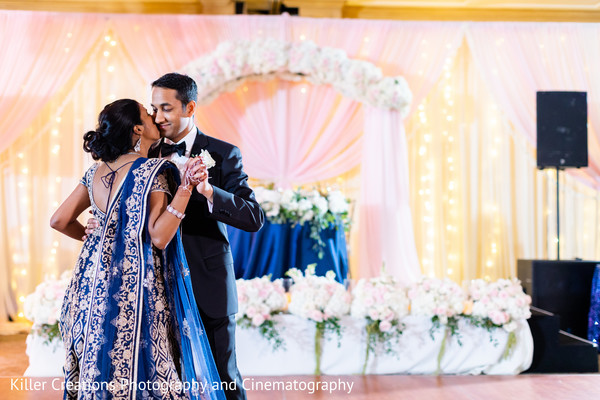 Lovely moment between the Indian newlyweds
