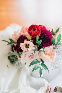 Floral arrangement detail on maharani's wardrobe