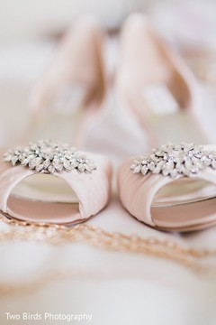 Shoes used by the beautiful Indian bride