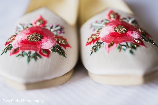 Shoes to be used by Indian groom for the ceremony