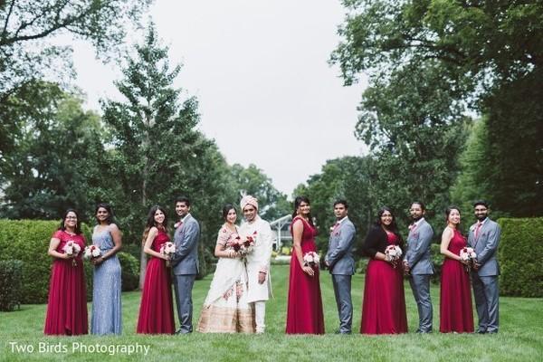 Capture of Indian bridesmaids and groomsmen