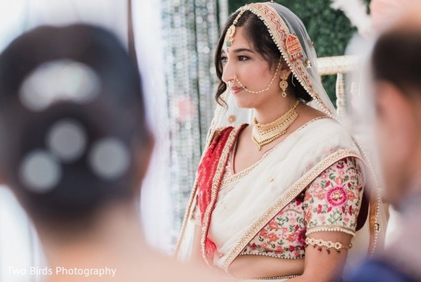 Beautiful Maharani during a moment of the ceremony